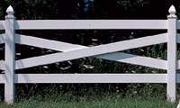 Vinyl Cross Buck Fence