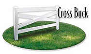 Vinyl Cross Buck Horse Fence